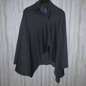 Bobeau Long Sleeve Gray Cardigan